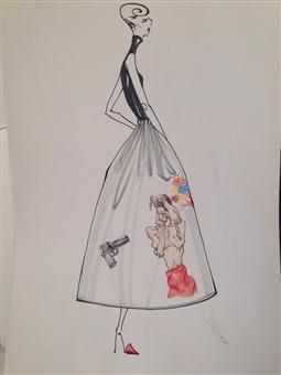女装手绘图