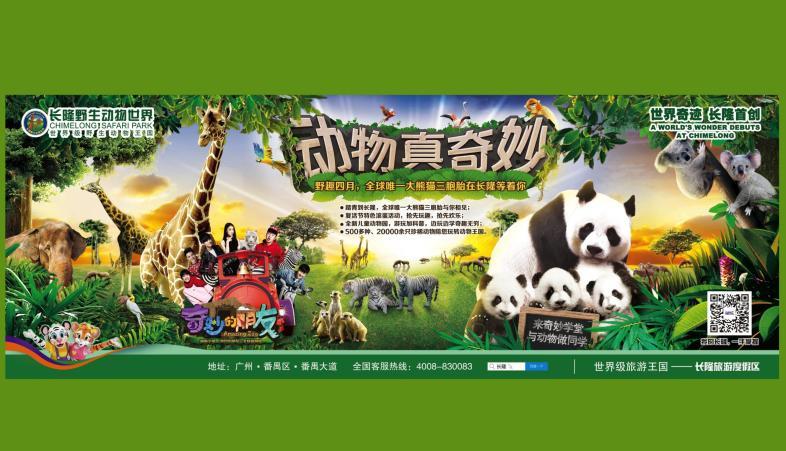 长隆野生动物园宣传网页海报