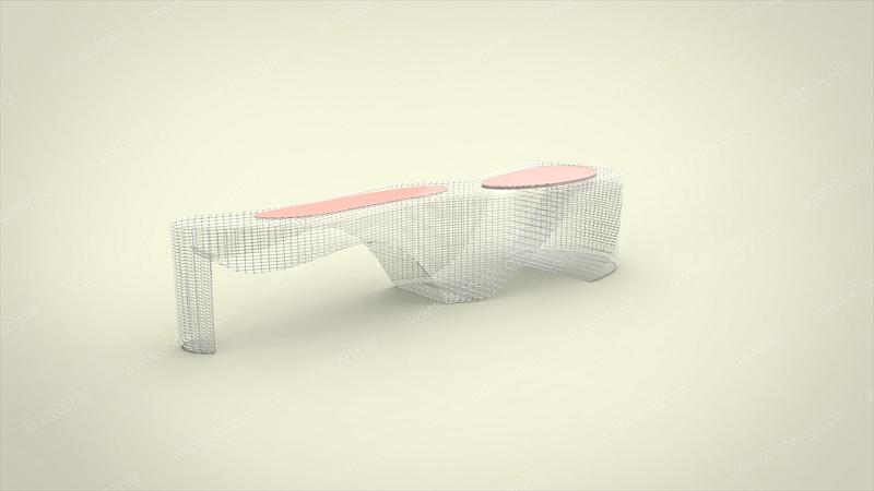 艺术公共长椅-设计案例_彩虹设计网
