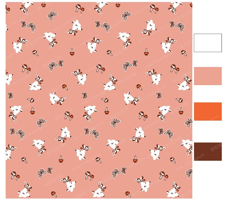 鹿服装图案-设计案例