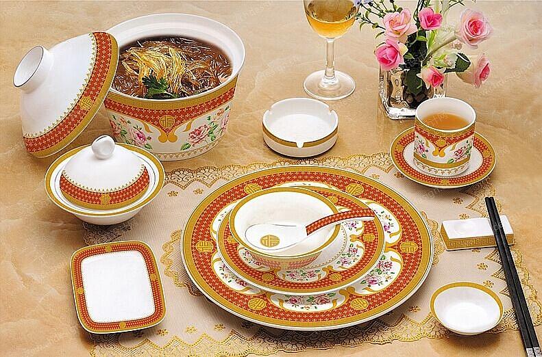 中式餐具简笔画