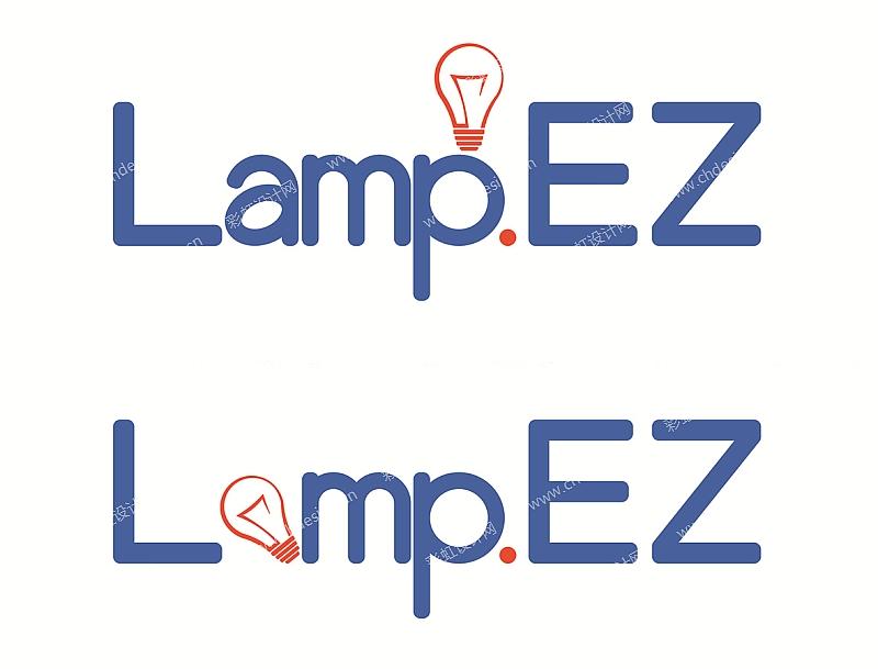 """捷美家品灯饰品牌—""""lampez""""logo设计"""