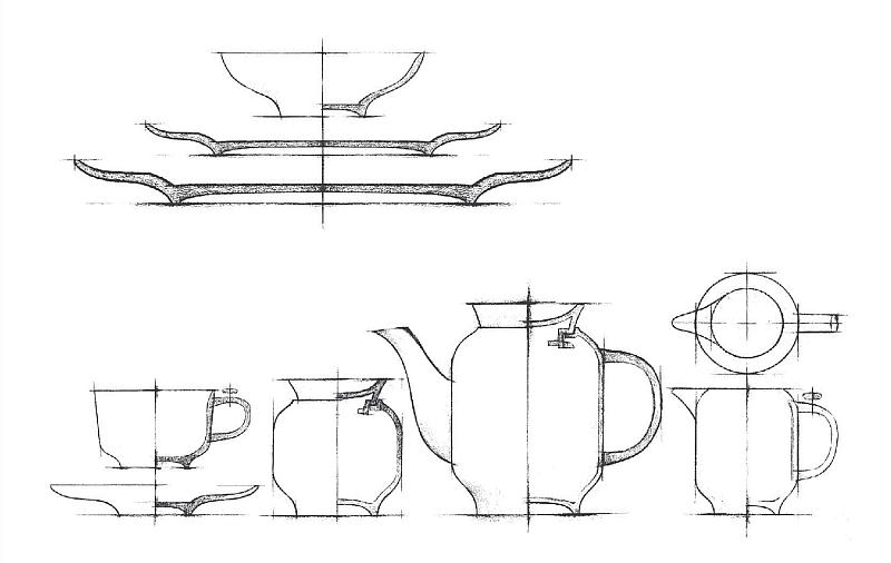 餐具工业设计手绘