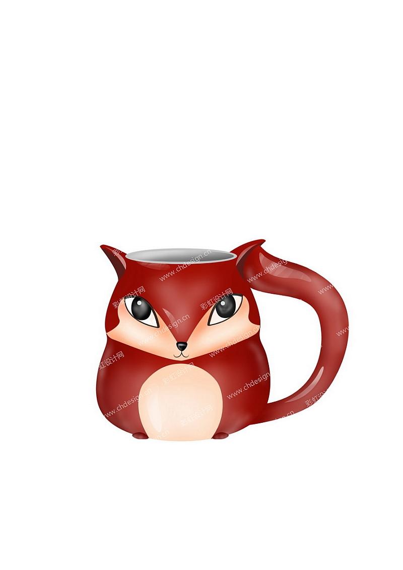 狐狸杯子造型-设计案例_彩虹设计网