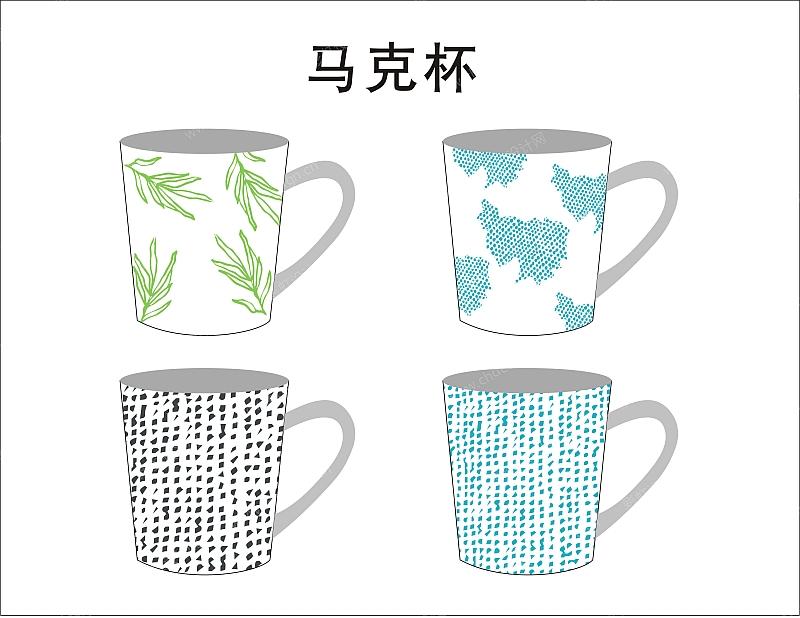 陶瓷马克杯图案-设计案例_彩虹设计网