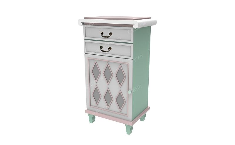 欧美复古风格家具柜子-设计案例_彩虹设计网