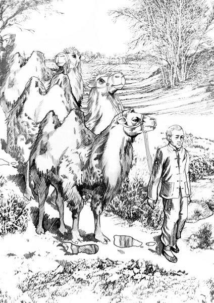 《骆驼祥子》黑白名著插图