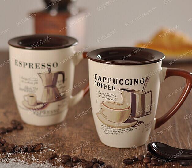 陶瓷咖啡杯图案设计