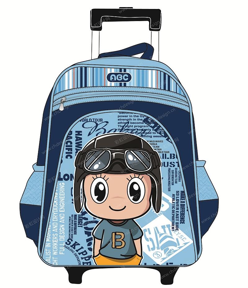 彩虹设计网 设计案例 儿童卡通拉杆书包背包  收藏点赞作品人气:77 &