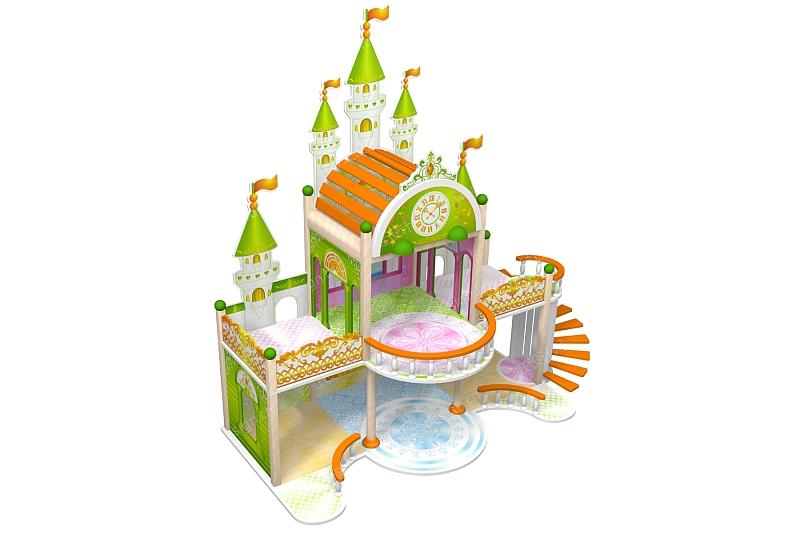 迪士尼城堡矢量图素材