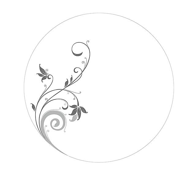 陶瓷花纸设计时尚简约花纹图案