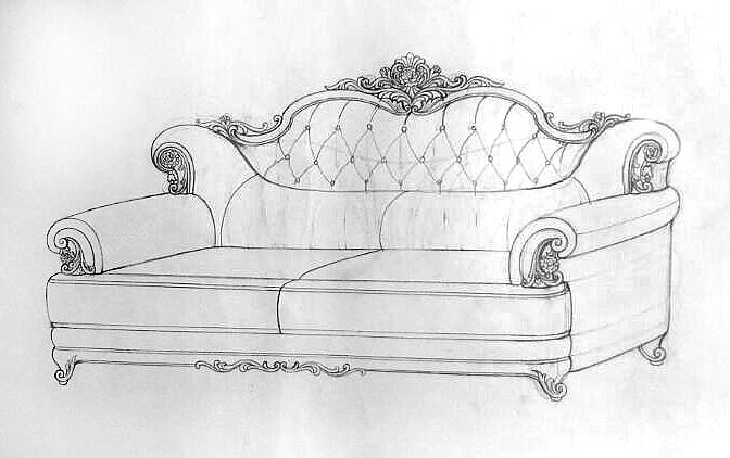 手绘欧美沙发家具