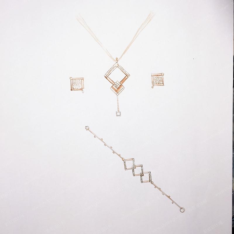 珠宝三件套系列之空白格-设计案例