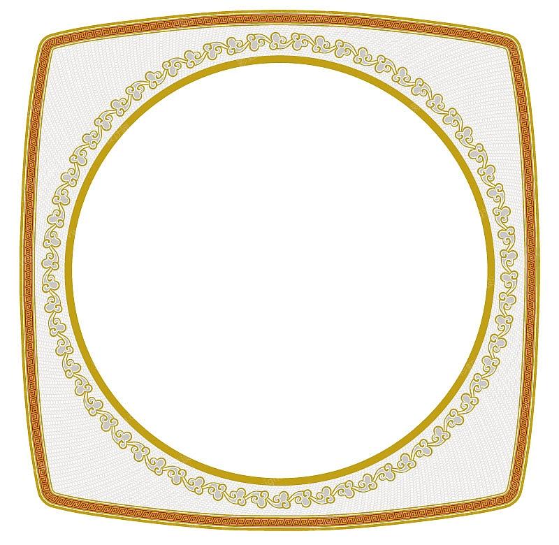 陶瓷花纸设计中式花纹图案