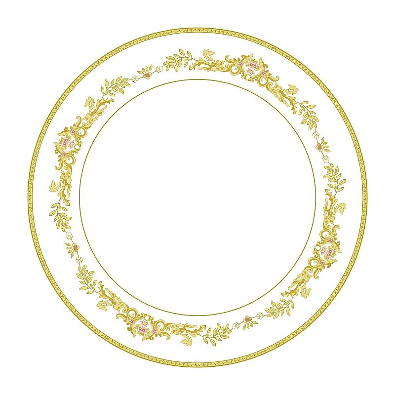 陶瓷花纸设计欧式花纹图案