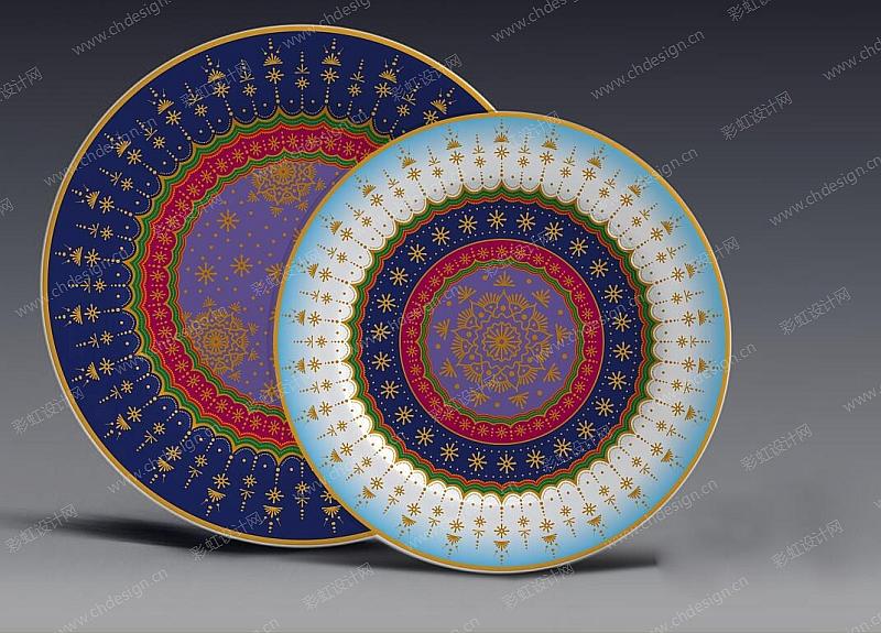 陶瓷餐具花面-设计案例_彩虹设计网
