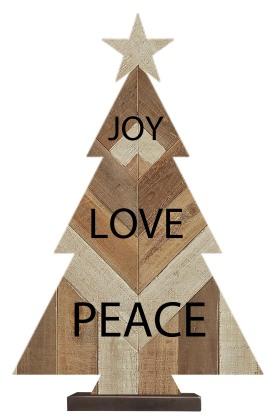 圣诞节-圣诞树造型木质摆件
