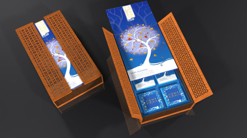 中秋节 月饼盒包装
