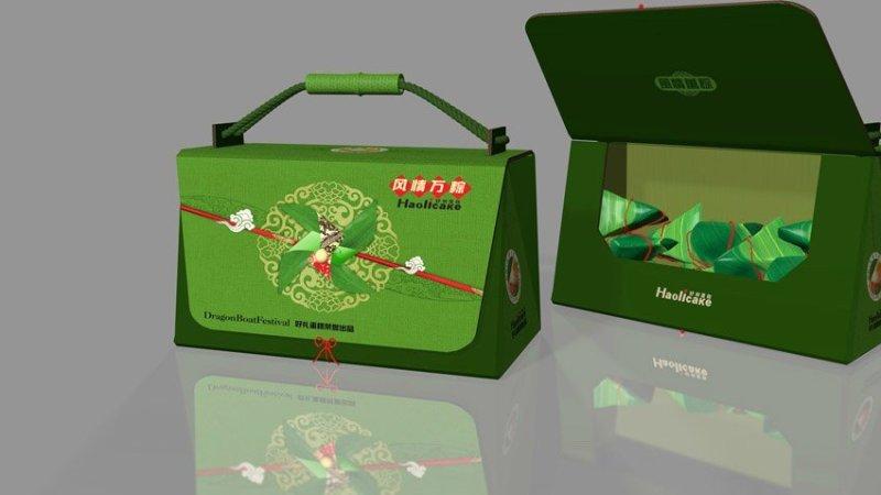 端午节粽子盒包装-设计案例_彩虹设计网