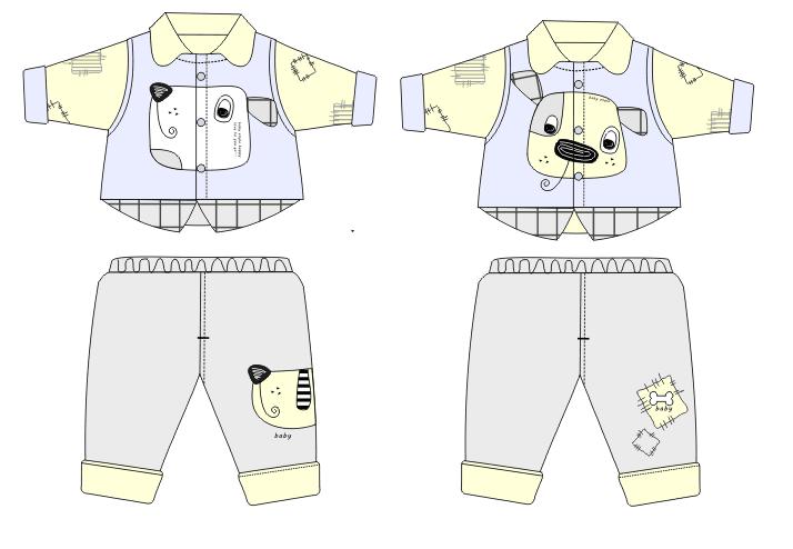 婴儿可爱小狗服装