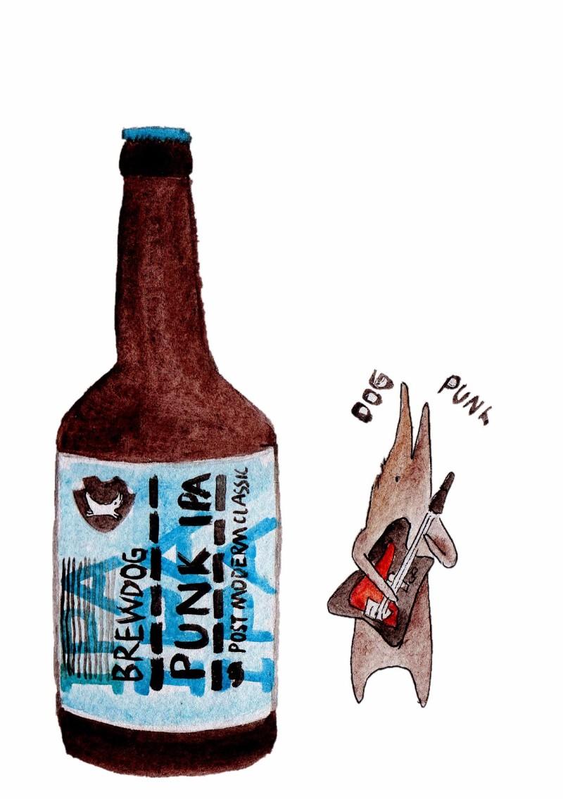 精酿啤酒手绘宣传设计图