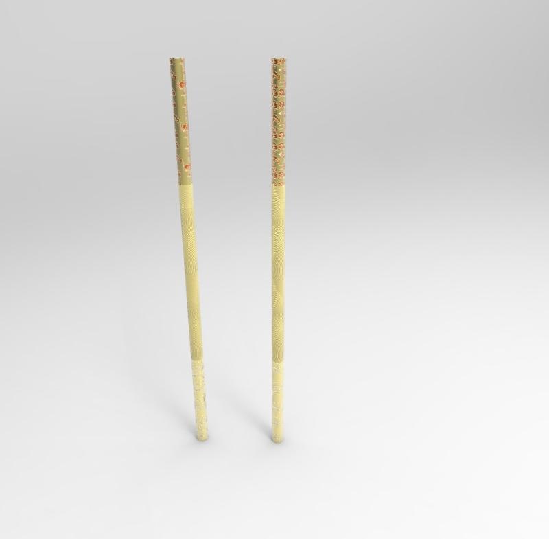 筷子拼装立体别墅