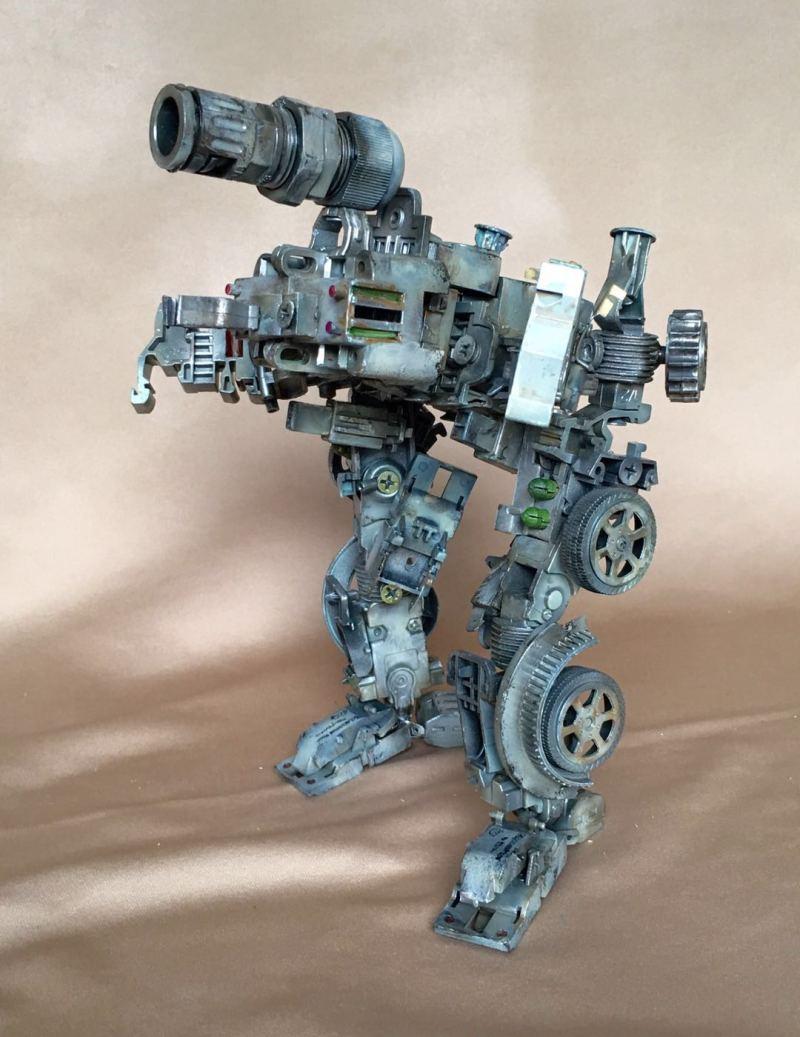 高端機器人玩具模型-設計案例_彩虹設計網