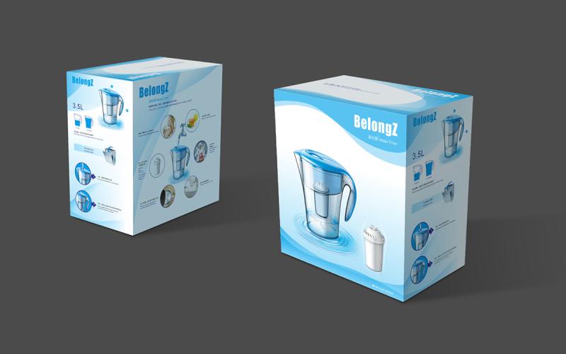 滤水壶包装设计产品包装设计平面设计
