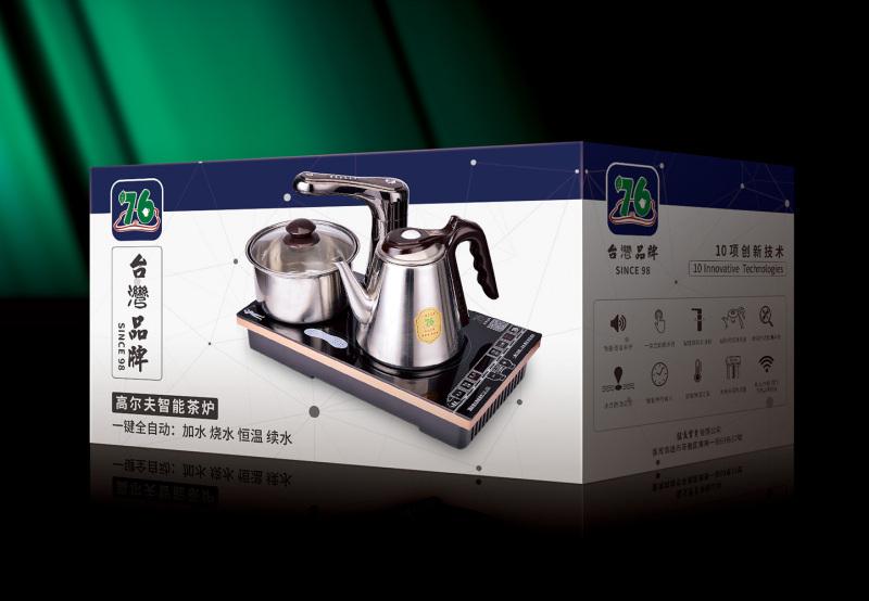 智能茶壶包装-设计案例_彩虹设计网