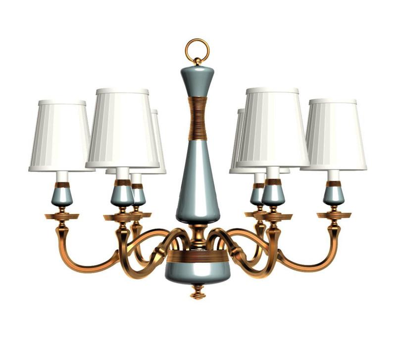 美式陶瓷吊灯图片