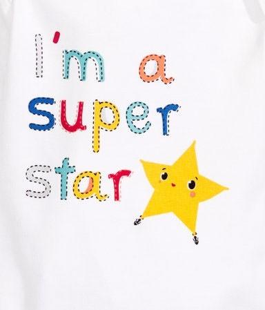 h&m新生儿套装印花设计-星星