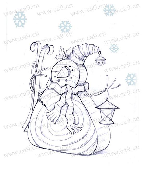 圣诞雪人摆饰