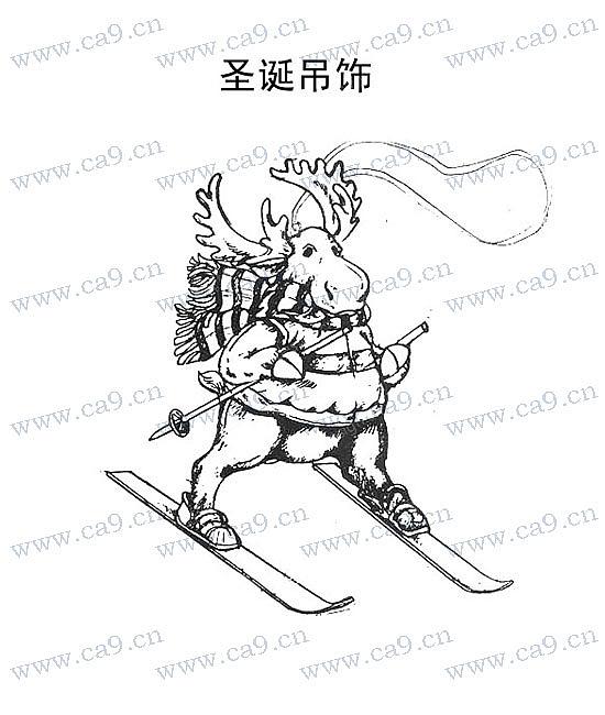 圣誕節麋鹿吊飾-設計案例