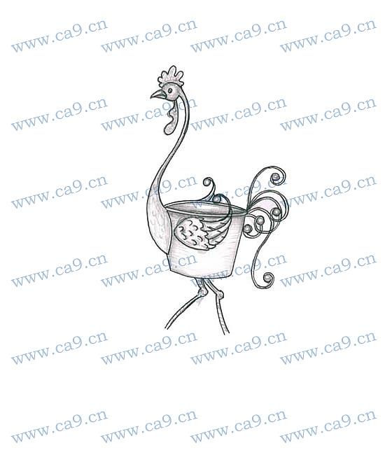 作品编号:ch1039202 作品名称:动物 创作时间:2009 作品形态:平面图纸