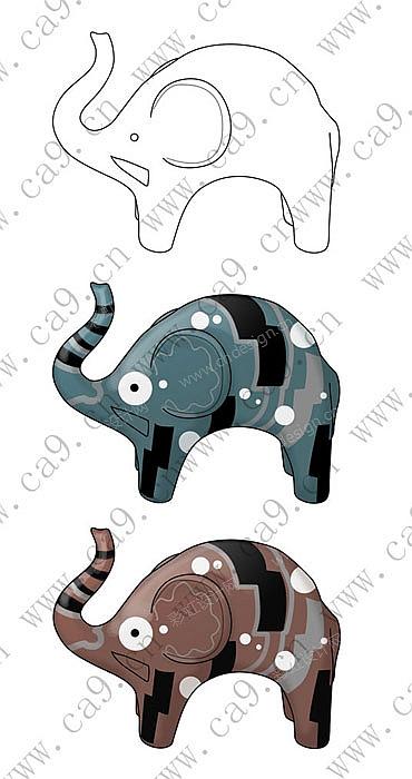 作品编号:ch1039978 作品名称:动物大象摆件 创作时间:2010 作品形态