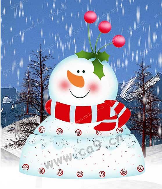 雪人手工制作图片大米