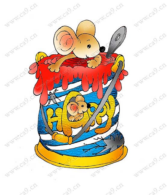 老鼠主题 报幕牌 手绘