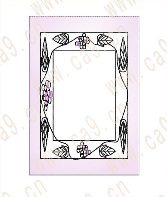 盘子边框装饰图片