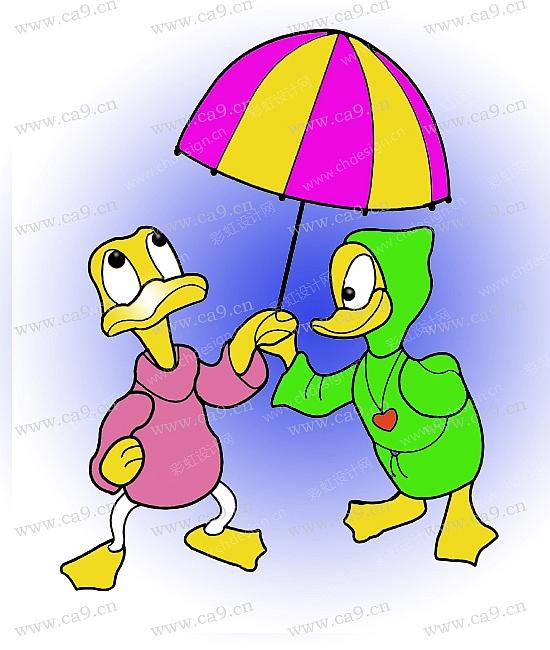 设计案例 鸭子  ‹› 通过把鸭子人性化,表现其可爱性.