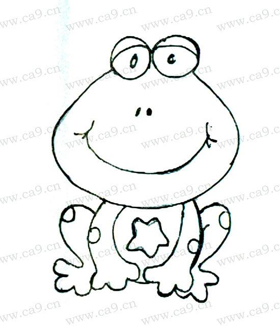 青蛙手绘简笔画