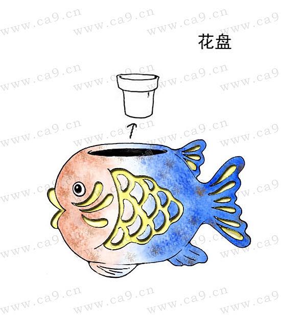 花盆海洋鱼