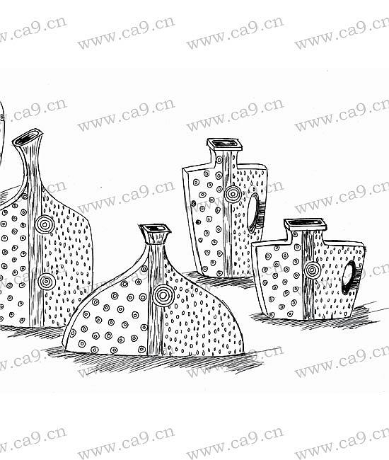 幼儿花瓶花朵涂色简笔画