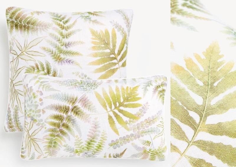 同种色调和图案设计_2018流行元素——大叶类植物在家纺系列的运用_设计策划案_彩虹 ...