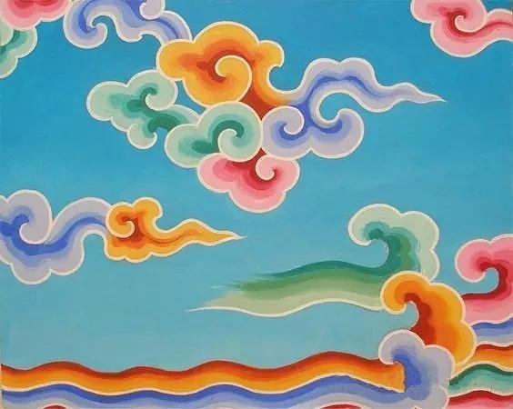 中国传统纹样之 祥云 海浪 吉祥纹