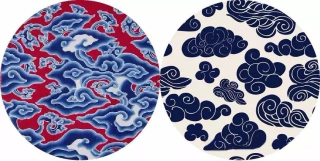 中国传统纹样之 祥云海浪吉祥纹  我国的传统纹样丰富多彩,璀璨夺目, 它既代表中华民族的悠久历史、社会的发展进步, 也是世界文化艺术宝库中的巨大财富。  在时下流行的中国风的元素中, 比起花鸟等这些具象的图案, 传统纹样似乎更能代表中华民族文化艺术的精髓。 从变幻无穷、淳朴浑厚的各类纹样里, 我们可以看出各时代工艺的技术水平, 和中华民族一脉相承的艺术文化传统。  早在6、7千年前,我们远古的祖先就创造出彩陶, 之后又有青铜、陶瓷、漆器、 丝绸、刺绣、雕刻、编织、蜡染等工艺。 今天主要讲三种传统纹饰: