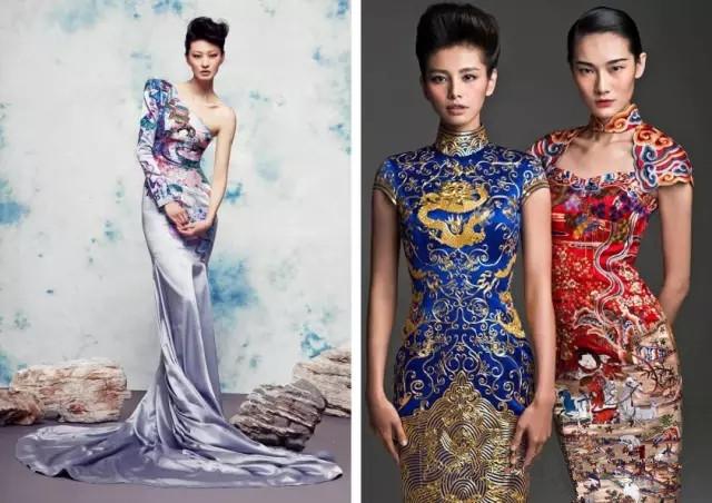传统旗袍简笔画