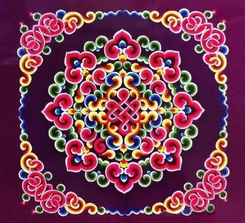 陶瓷图案手绘图 彩虹