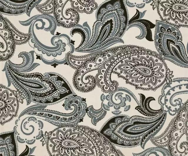 没想到这火腿样子的花纹居然是古老的时尚之花——佩斯利paisley