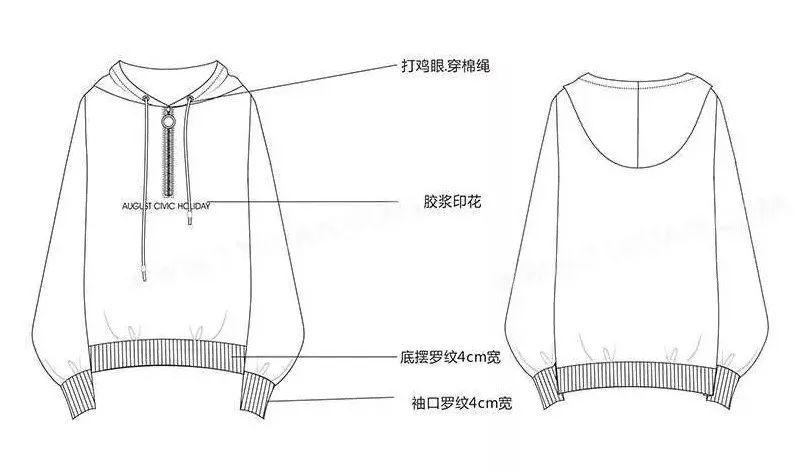 """企业服装设计""""工业款式图""""!(正背面 绘制步骤教程)"""