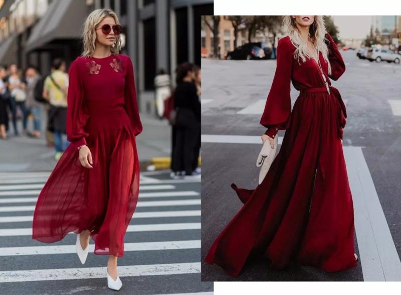 巴斯克衫绿+樱桃酒红+··· 这四大颜色穿上显贵又高级!(图22)
